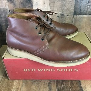 Red Wing Vtg 595 Chukka Work Boots EH Mens 9 EE